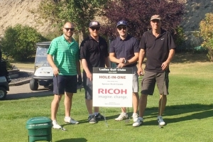 2 Kyle - Jonathan - Erich - Shad on Ricoh Hole In One
