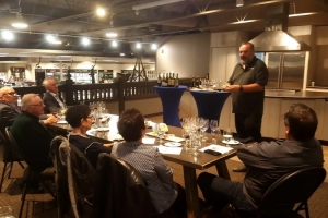 Mike Bigattini Leads the PGIA Wine Tasting at Willow Park Wines & Spirits