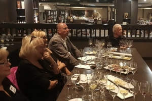 Members and Guests enjoy the wine tasting at the PGIA AGM